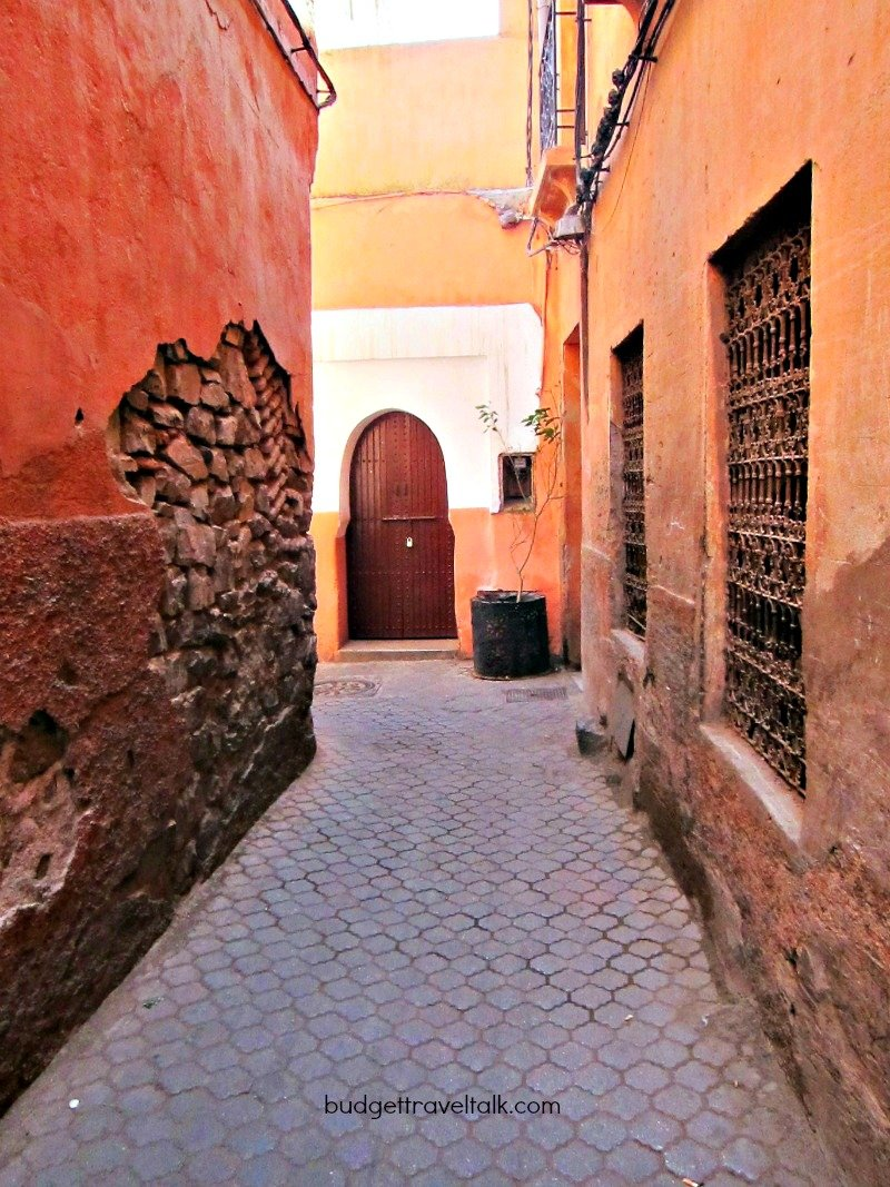 The tall walls of the Marrakech Medina reveal their inner selves.