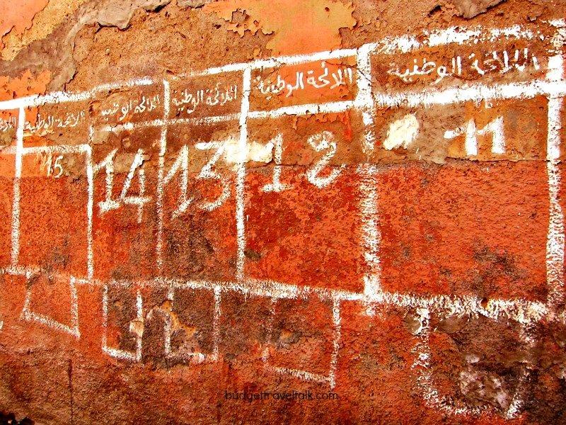 Election Tallies on a Marrakech Wall