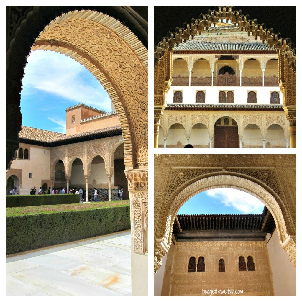 The arches in the Nasrid Palaces of th Alhambra fascinated me.