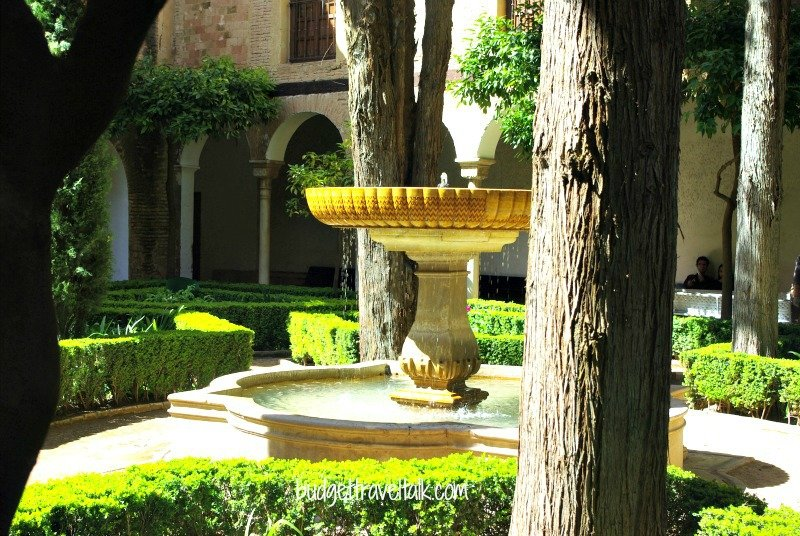 Alhambra Palace Courtyard Fountain
