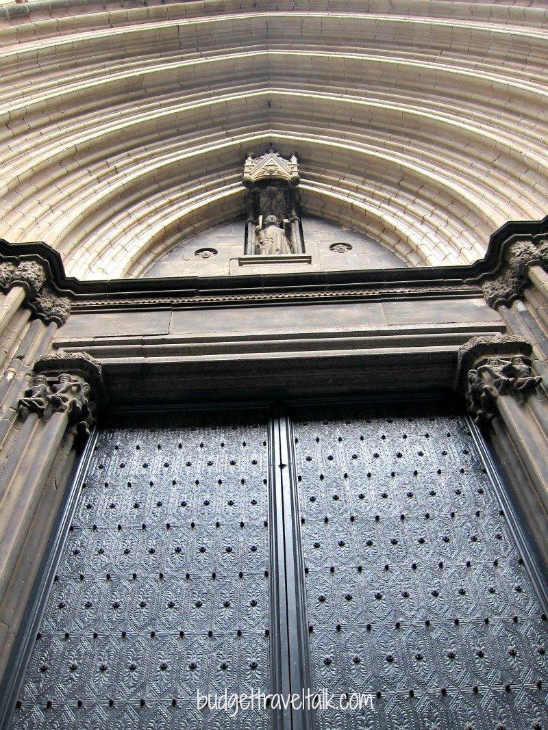 Now that is one imposing door.