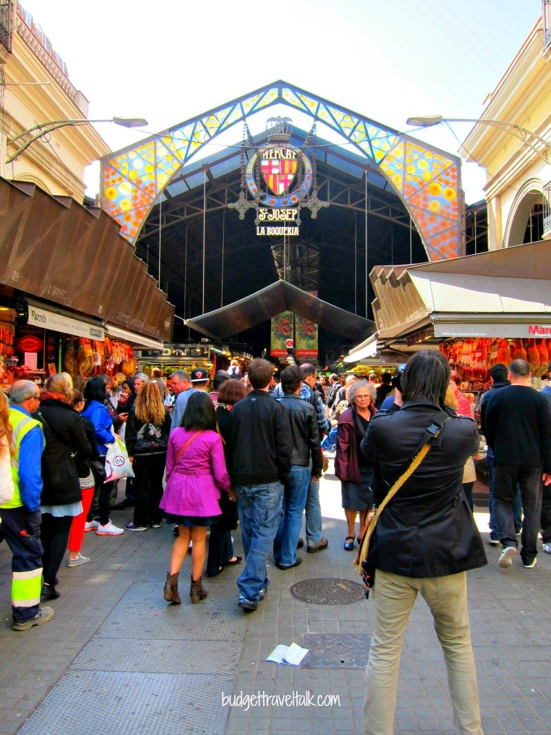 La Boqueria - Just metres off Las Ramblas in Barcelona