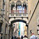A Fanciful Bridge in Barcelona Spain