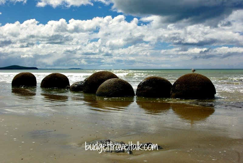 Boulders on Koekohe Beach in Otago, New Zealand. They take there name from Moeraki Township which is a couple of kilometres away.