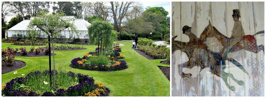 Formal Garden and Hunting Scene - Oamaru Public Gardens