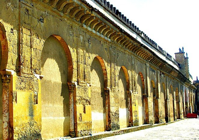 The closed off Arches of the Mezquita today.