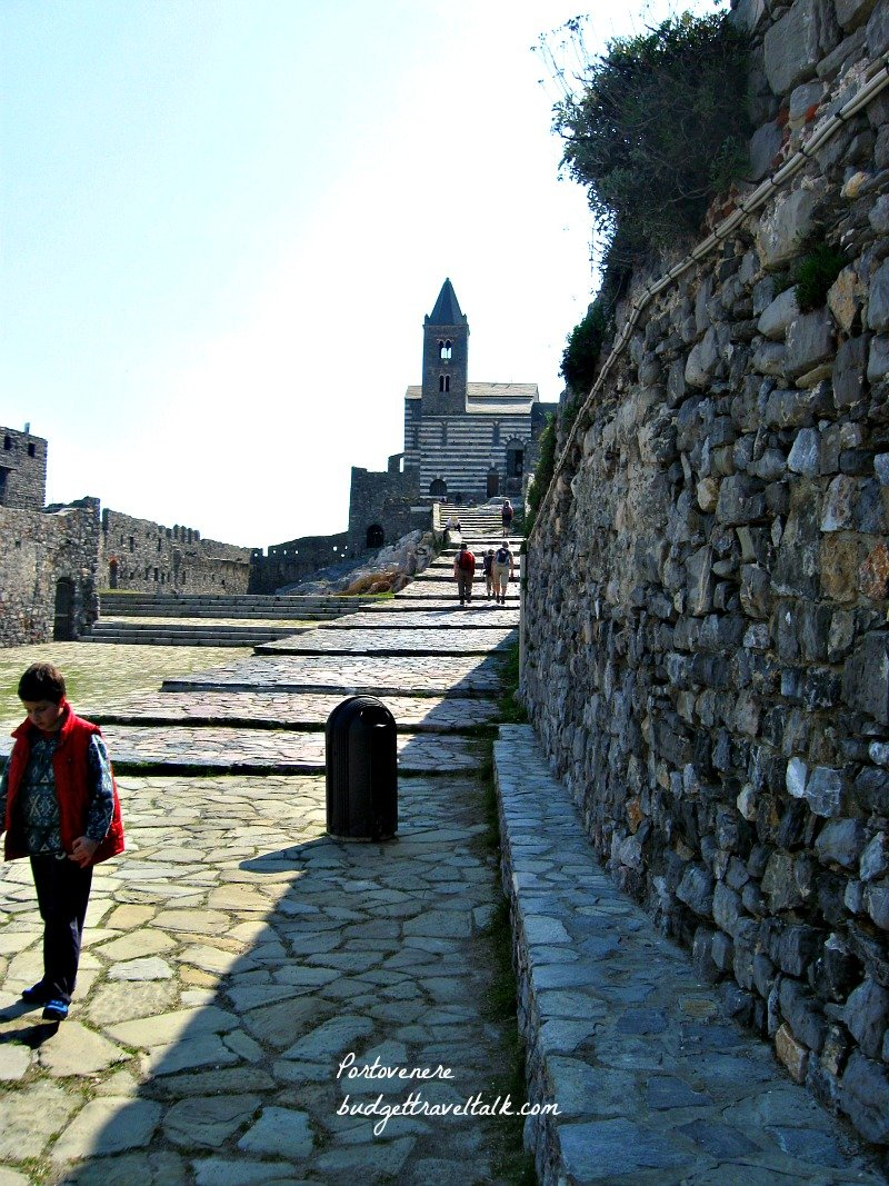 The Portovenere promenade leads to the Church of San Pietro