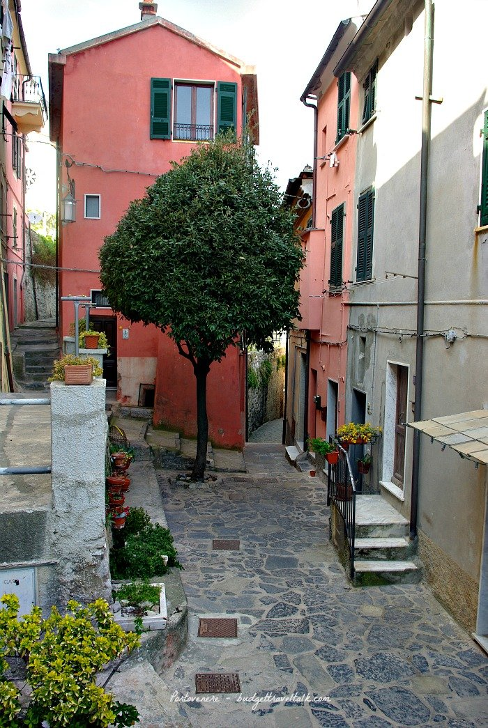 The medieval lanes of Portovenere, Italy