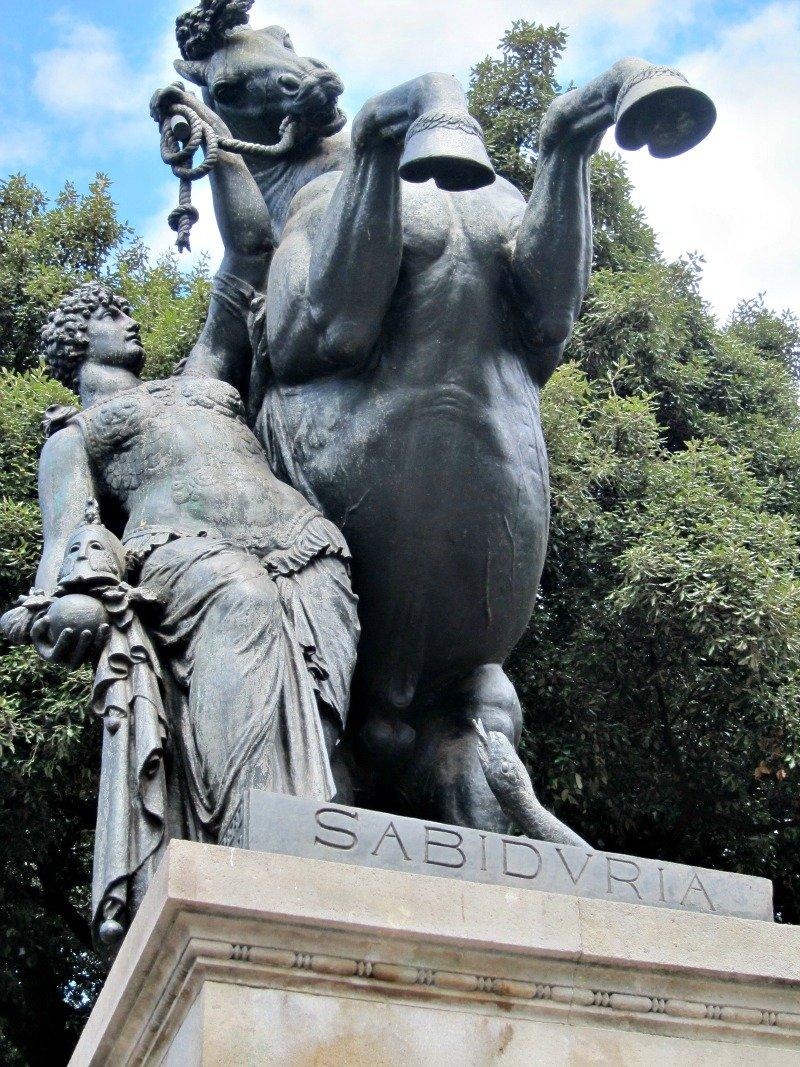 Sabiduria - Wisdom Statue, Catalunya Place, Barcelona