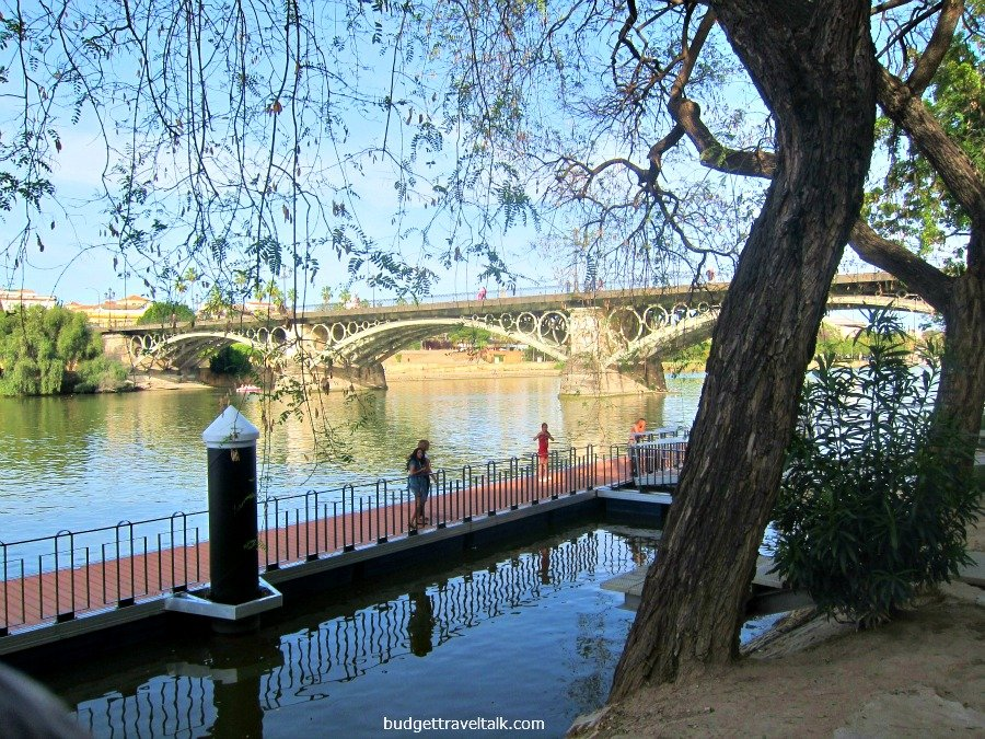 Sevilla's Isabel II (Triana) Bridge taken from the West Bank