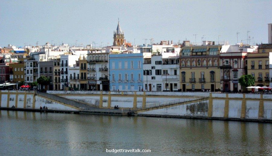Sevilla's West Bank taken from Isabel II bridge (Triana Bridge)