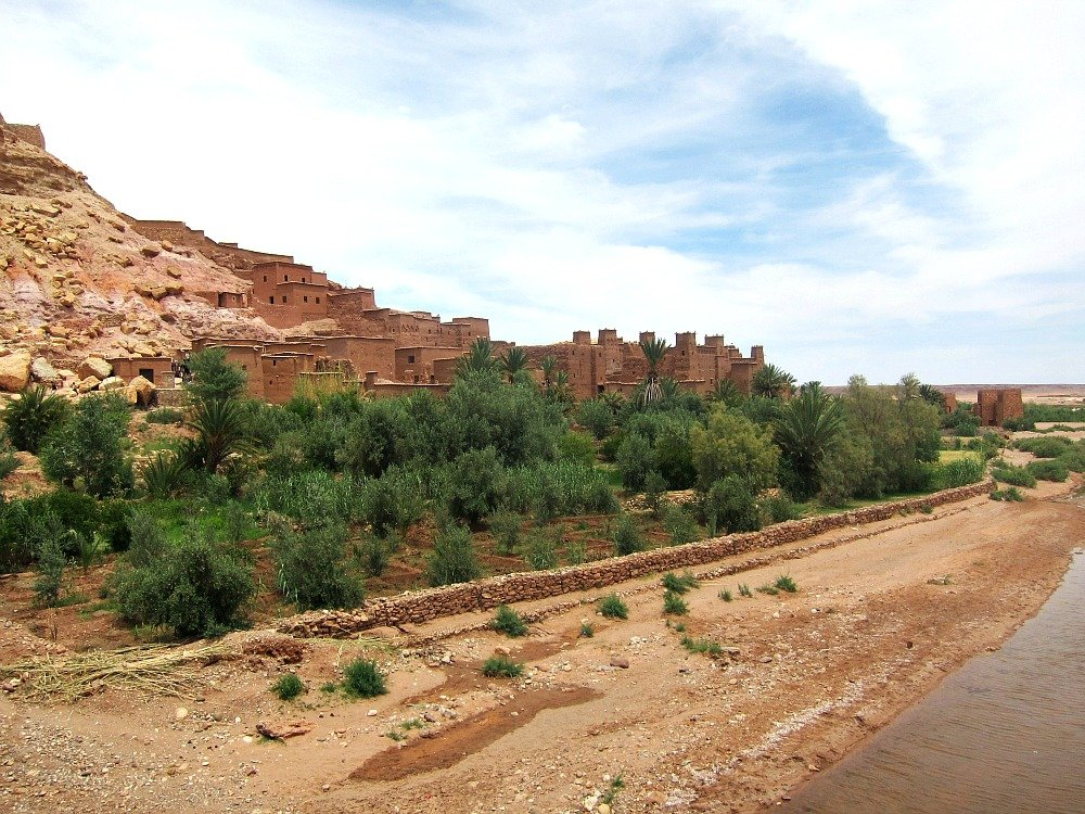 Ait Ben Haddou from the Bridge