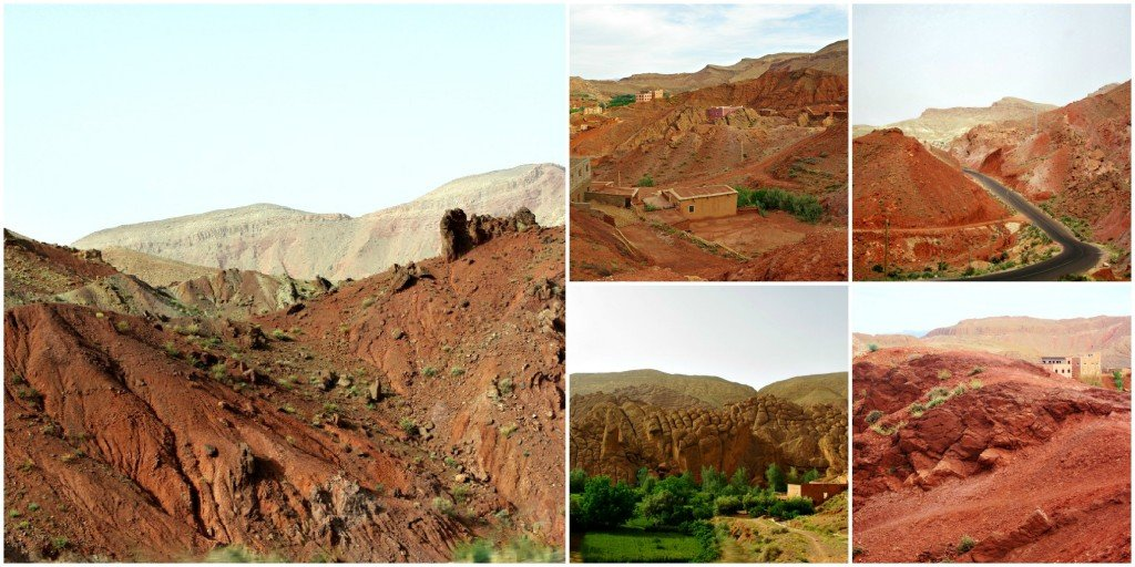Spectacular Red Scenery of the Dades Gorge