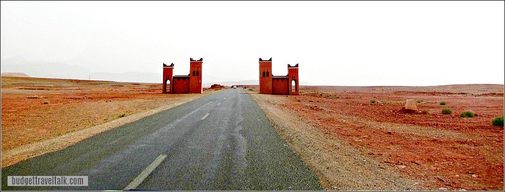 Desert Gates on the road to Erg Chebbi Morocco