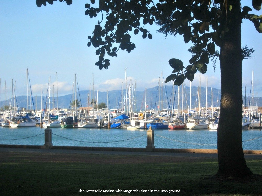Townsville Marina with Magnetic Island in the background