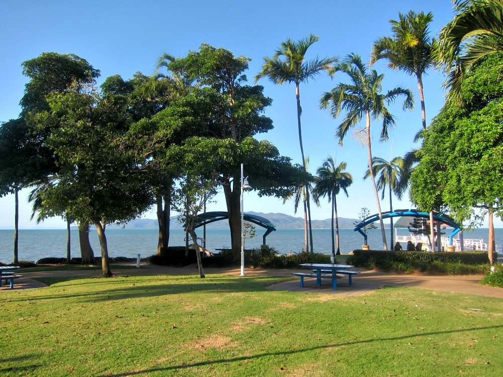The Strand Jetty, with Magnetic Island in the Background, BBQ picnic Shelters