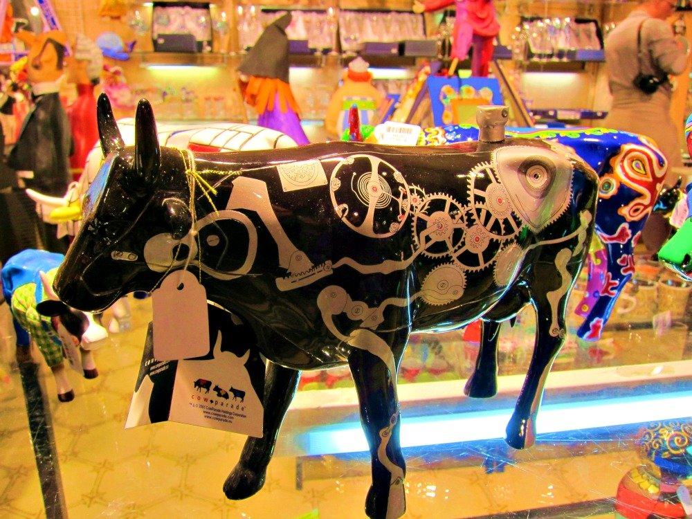 Window Shopping for trinkets in Barcelona.