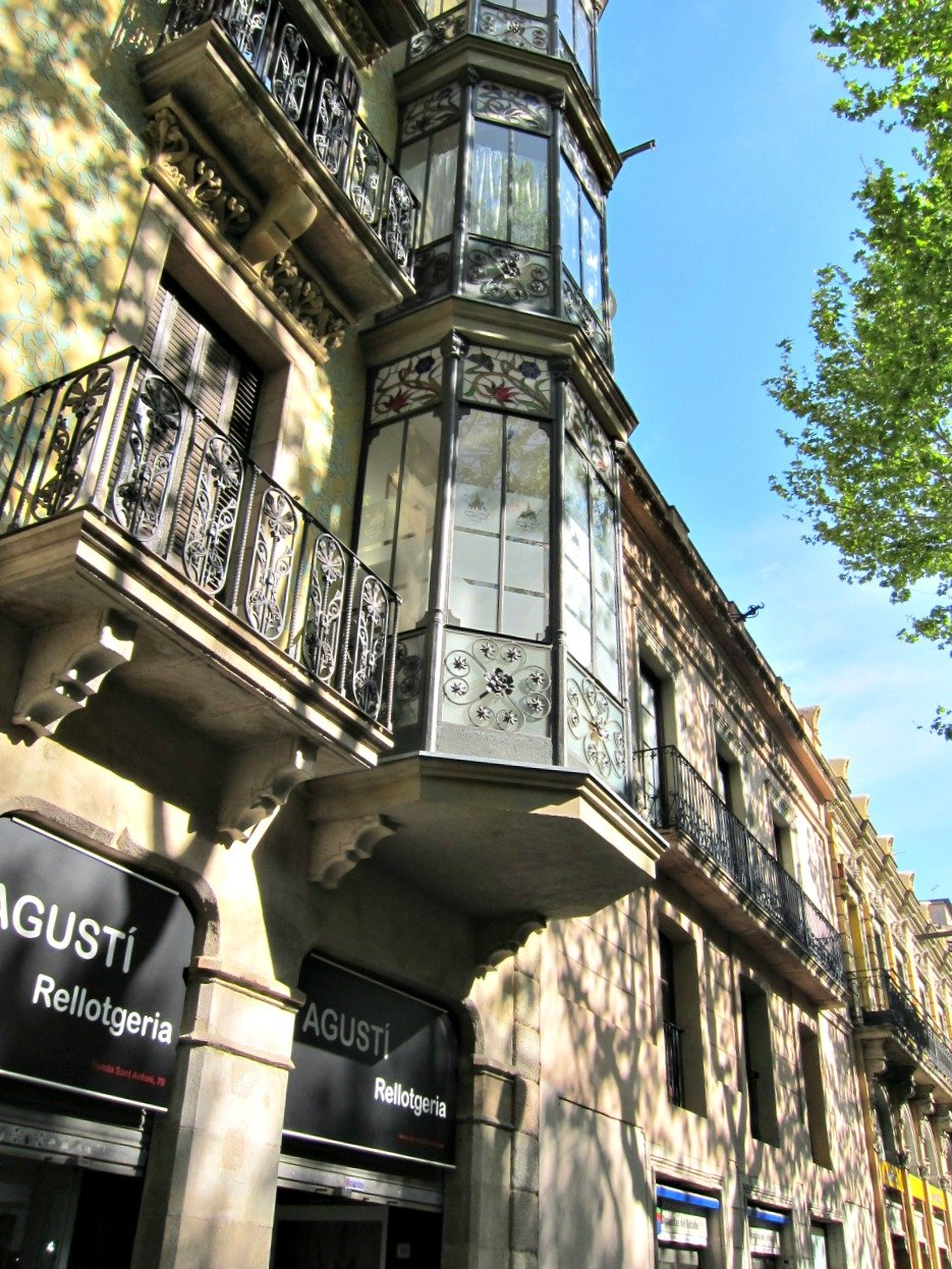 Barcelona style buildings