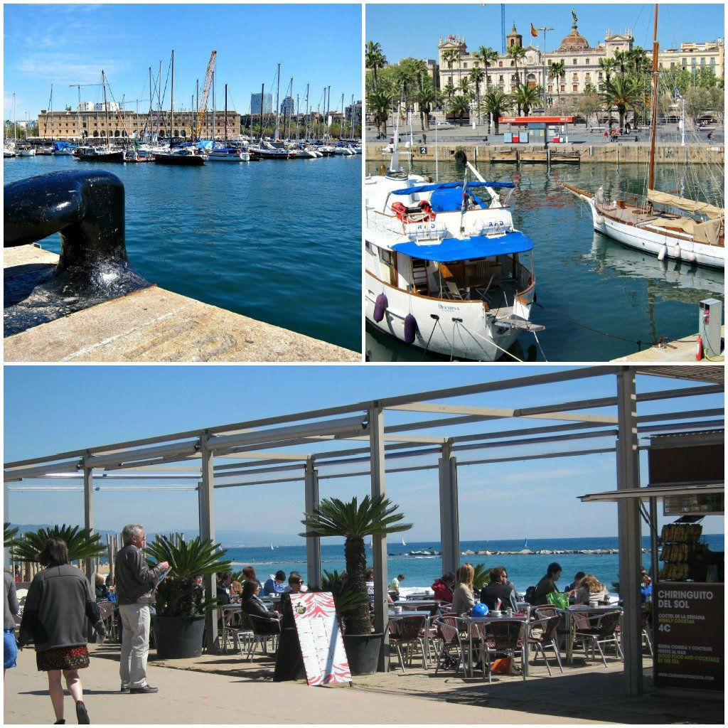 Port Vell and Barcoloneta are vibrant on a sunny Barcelona day.