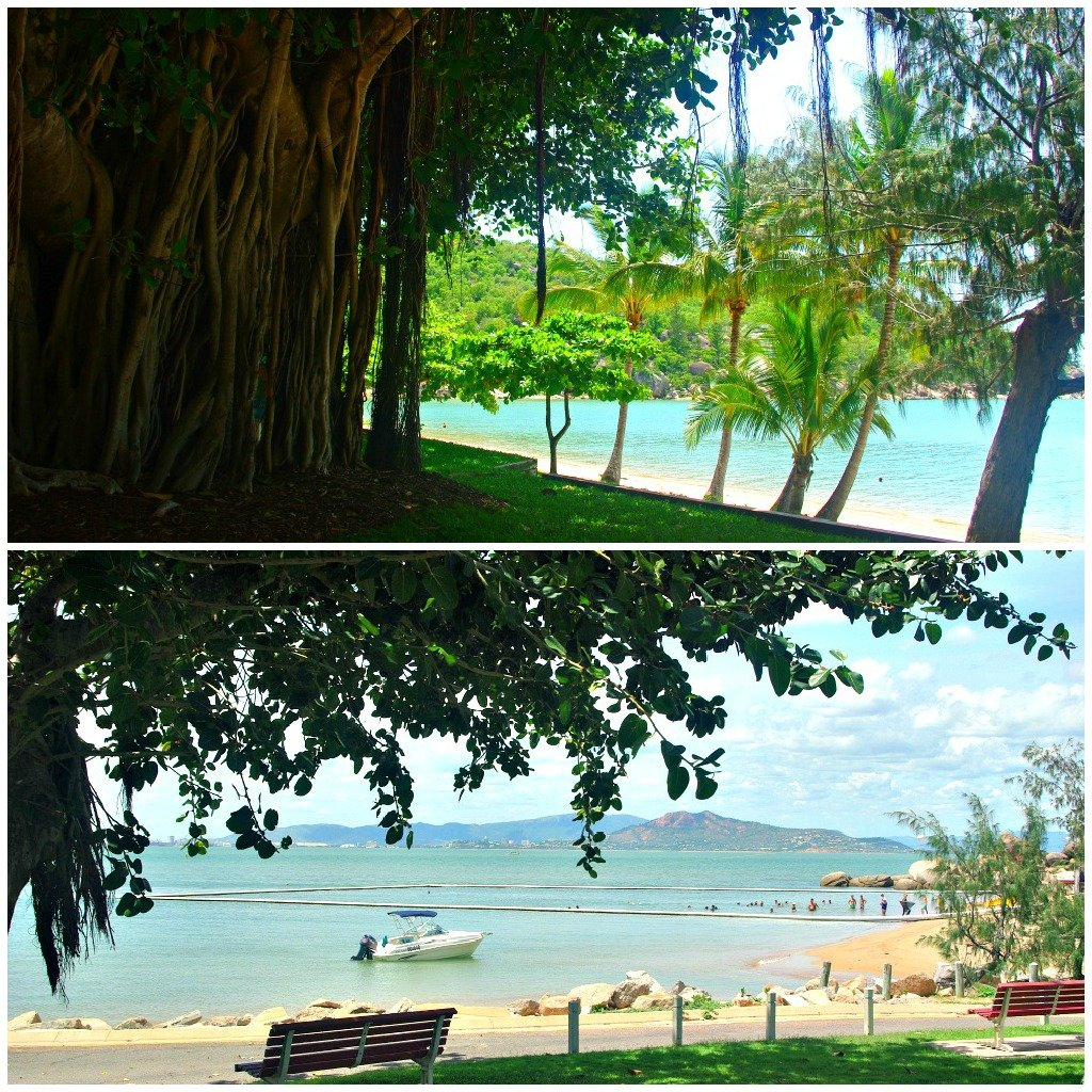 Looking our from the shady Fig Trees on the Esplanade and Mall of Picnic Bay, Magnetic Island.