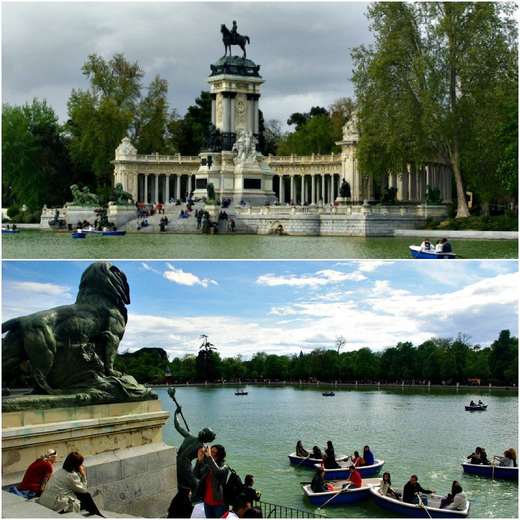 Retiro Collonade and Pond