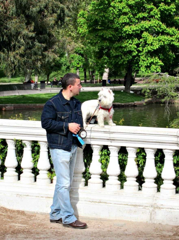 Man and Dog posing