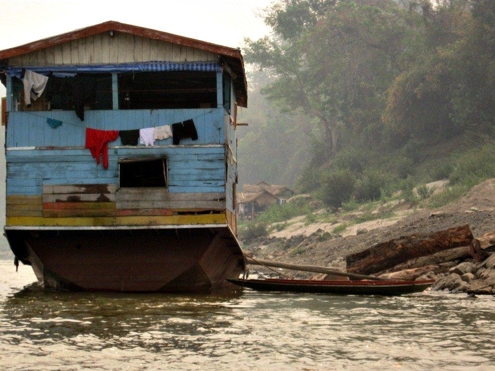 Mekong Timber Barge