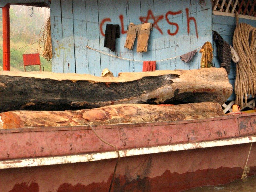 Mekong timber barge side v