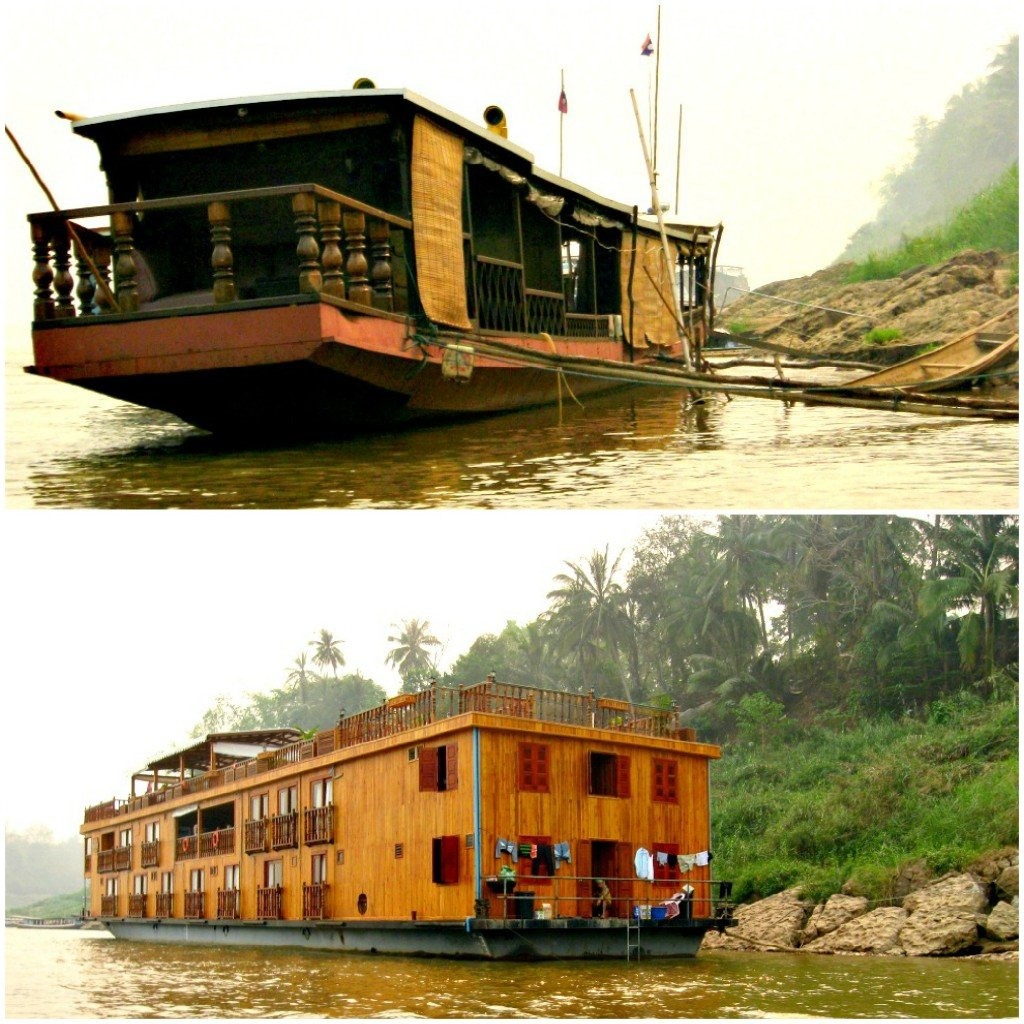 Other boats on the Mekong.