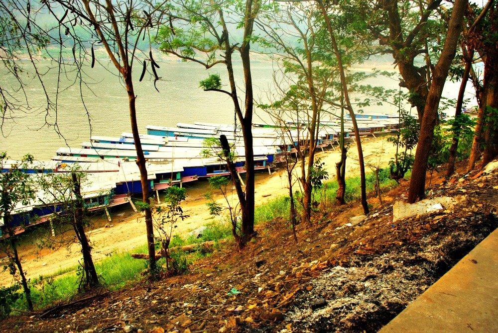 Mekong River Boats Luang Prabang