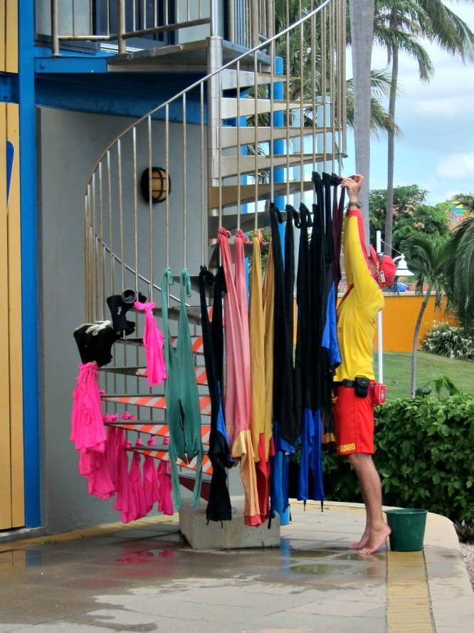 Stinger Suits Drying
