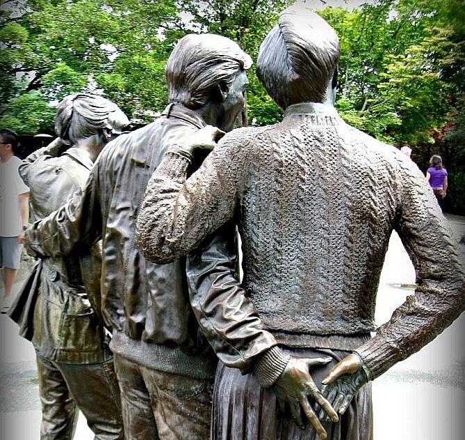 Bronze Statue in Queen Elizabeth Garden Vancouver
