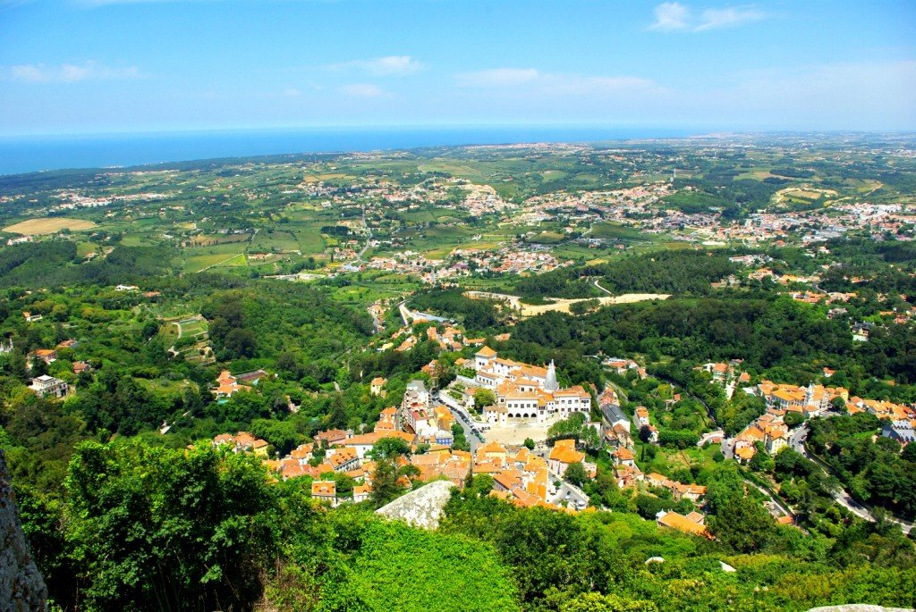 View of Sintra from the castello