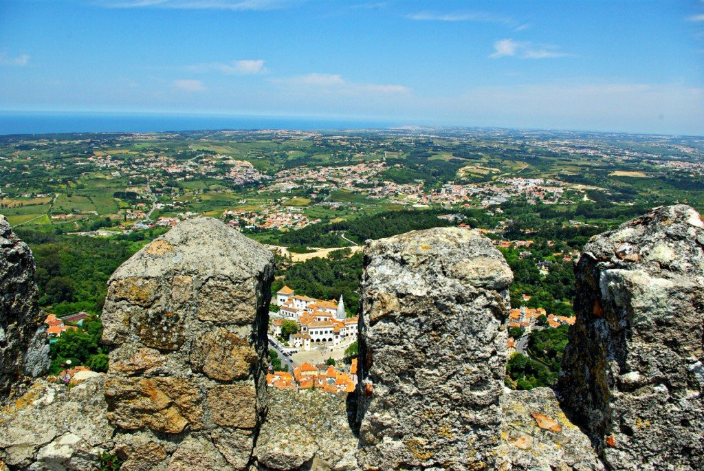 The Royal Palace of Sintra through the battlements