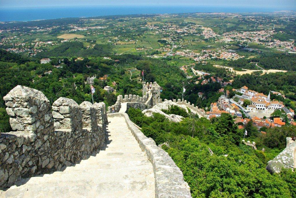 Steep castle walls