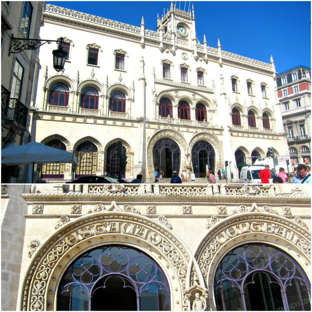The Rossio Train Station in Lisbon