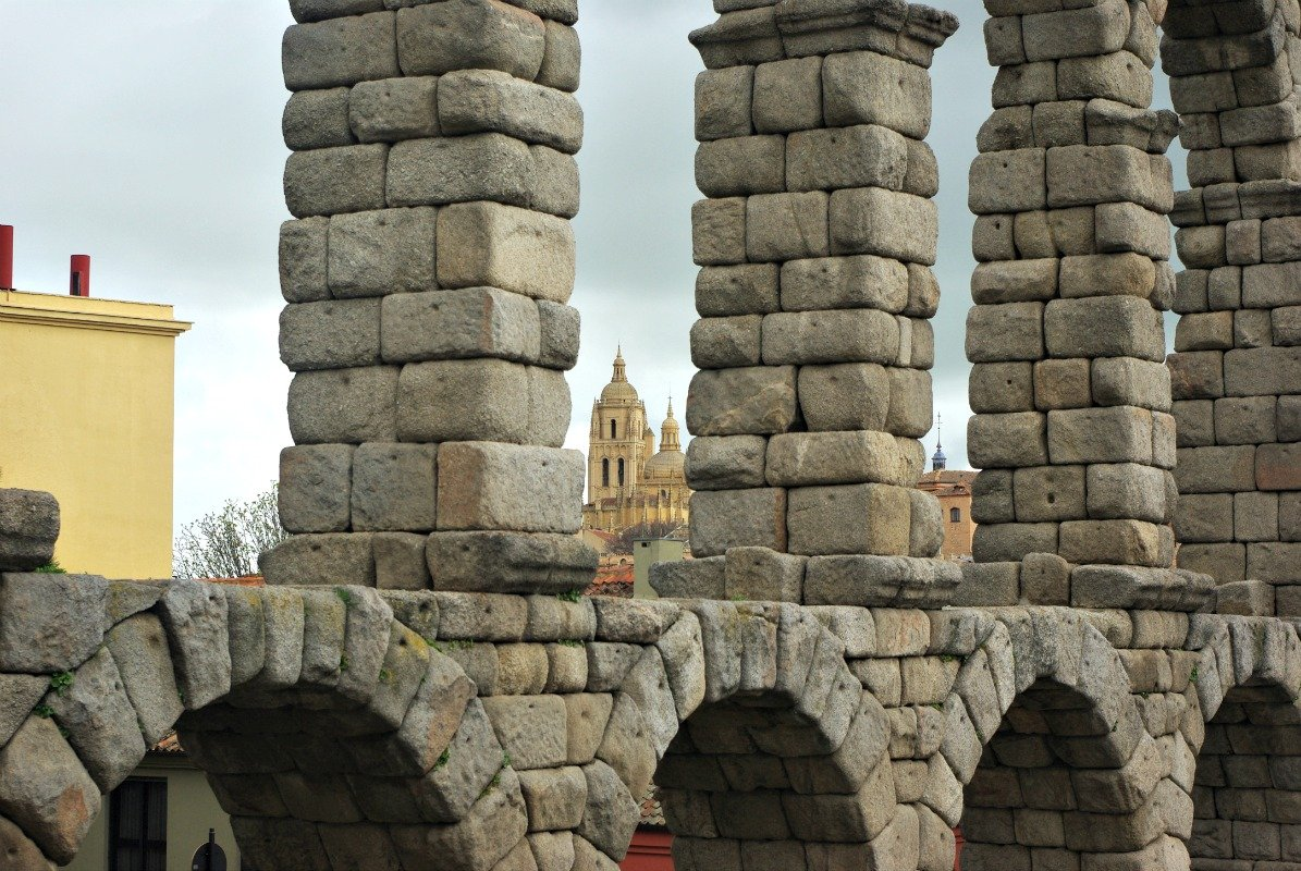 Segovia Aqueduct and Cathedral