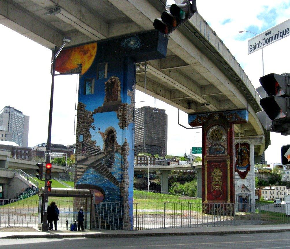 Quebec City Overpass Murals