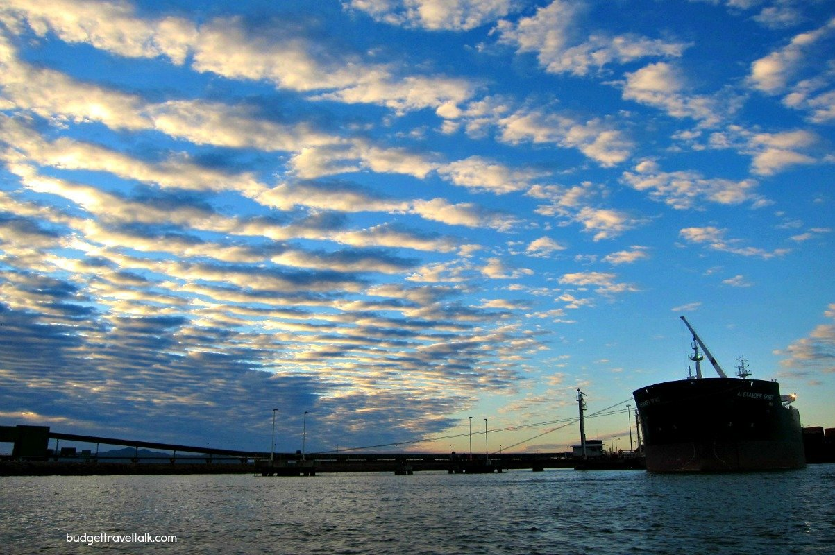Boat at Sunrise in Townsville Port