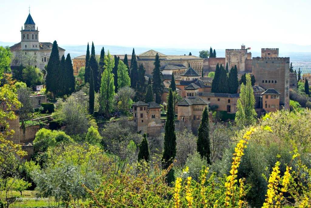 Looking back to the Alhambra from the Generalife