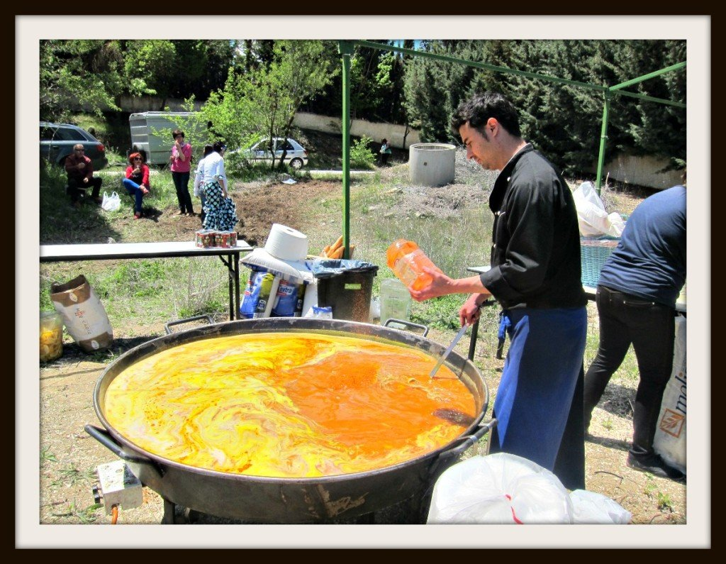 Fantastic Friday Paella  in a Spanish Field