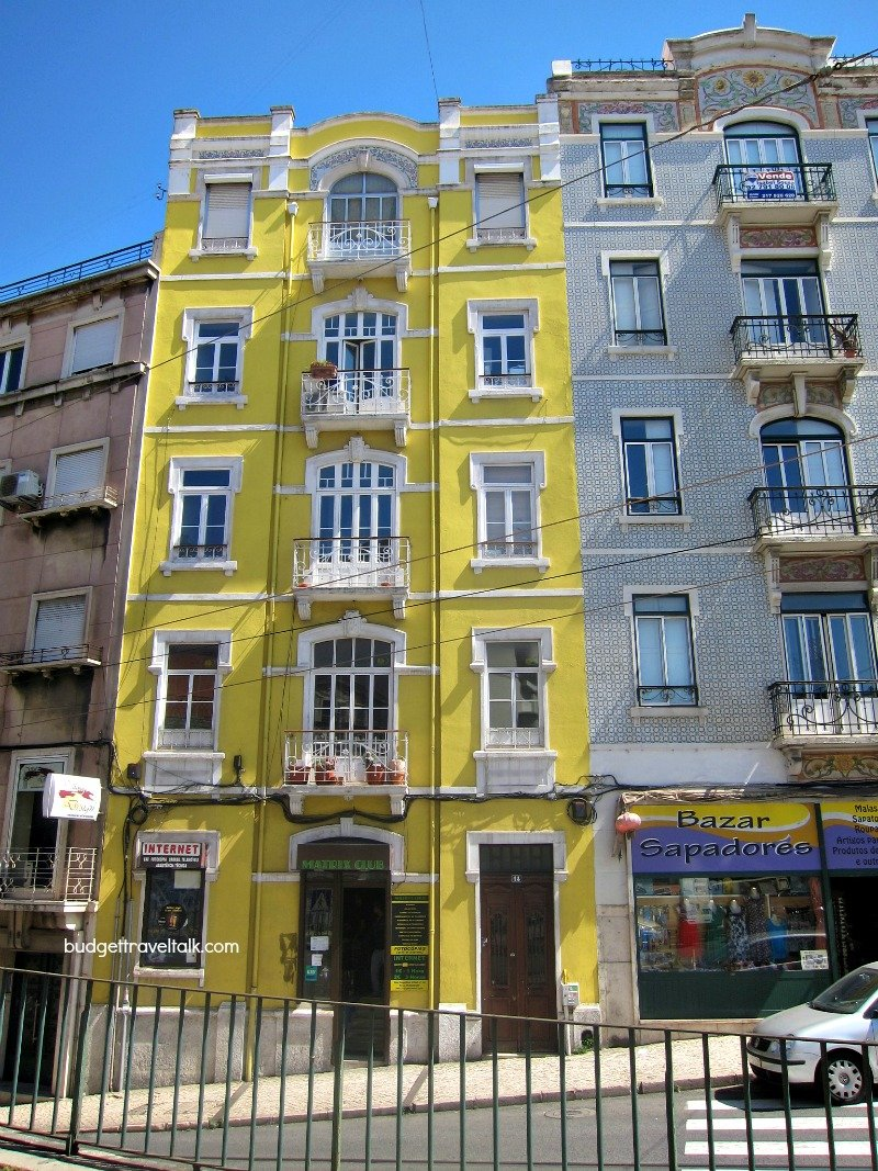 Lisbon Yellow and Blue Buildings