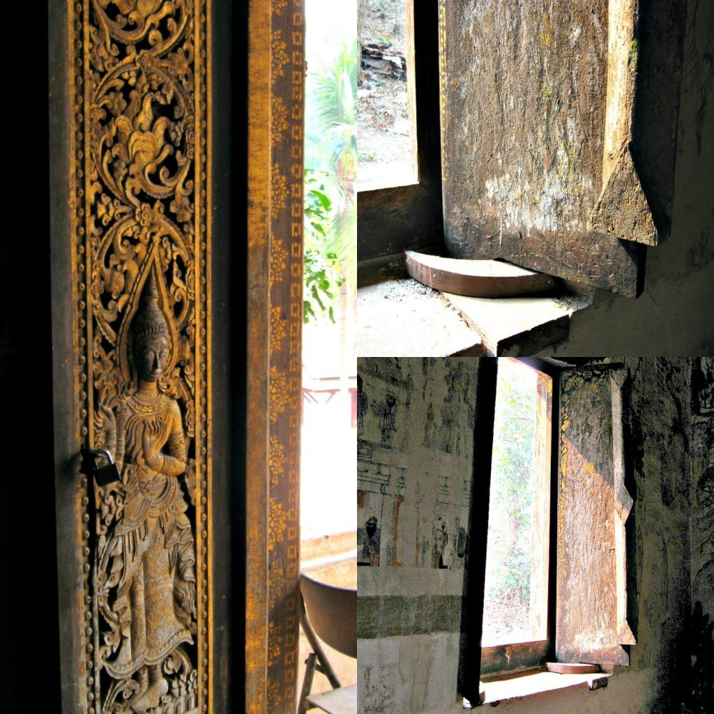 Luang Prabang Temple Collage windows and doors