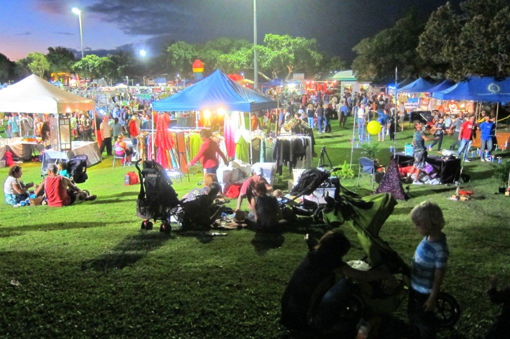 Night Markets Sit on the Grass