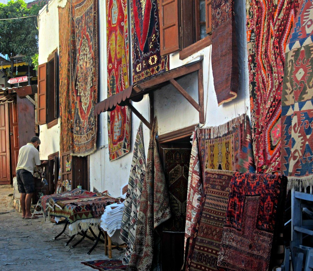 A carpet shop ın Turkey