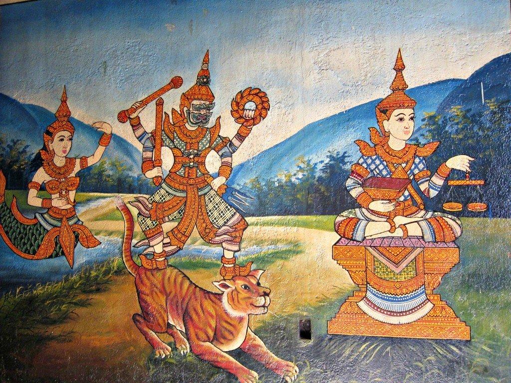 Wat Phnom Wall Paintings