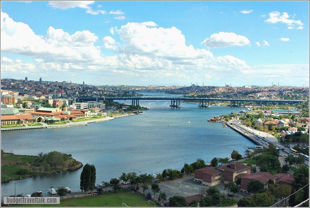 View from Pierre Loti Hill back to Eminonu Istanbul Turkey