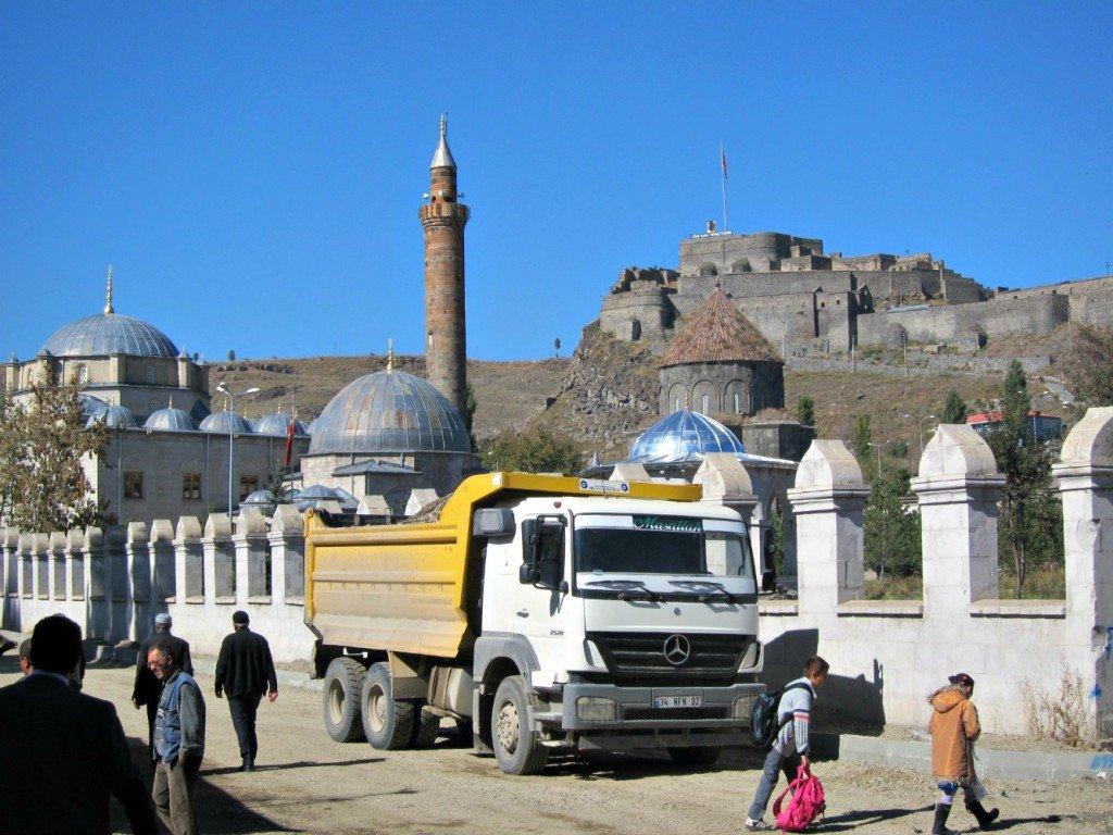 Kars Castle dominates the town