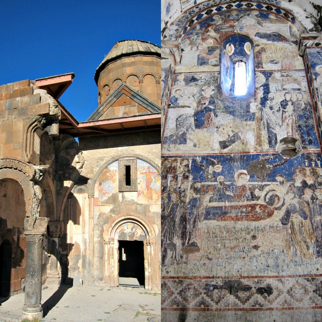 St. Gregory exterior and frescoes