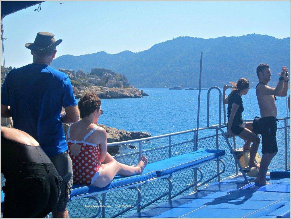 Blue Blue Boat Border